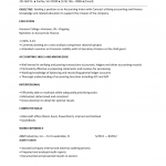 Accounting Internship Resume Template