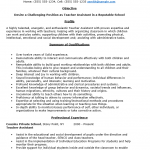 Teacher's Assistant Resume Template