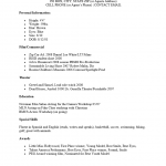 child acting resume - Child Actor Resume Format