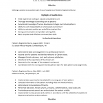 Pediatric Care Nurse Resume Template