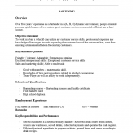 Professional Bartender Resume Template