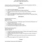 Real Estate Administrative Assistant Resume Template