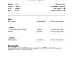 Beginner Acting Resume
