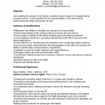 Customer Service Agent Resume Template