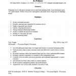 Entry Level Server Resume Template