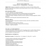 Customer Service Retail Resume Template