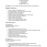 Fine Dining Server Resume Template