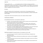 General Office Receptionist Resume Template