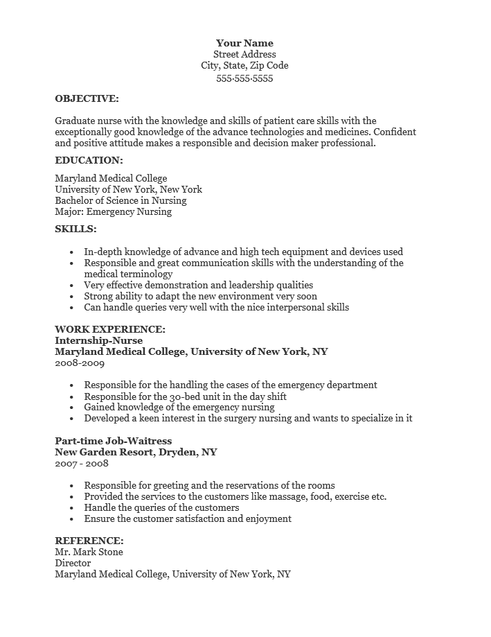 graduate nurse resume template   resume templates
