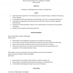 Medical Surgery (Operating Room) Nurse Resume Template