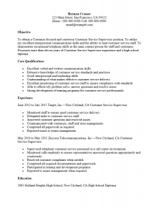 midlevel cust service supervisor resume sample