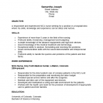Icu nurse resume example
