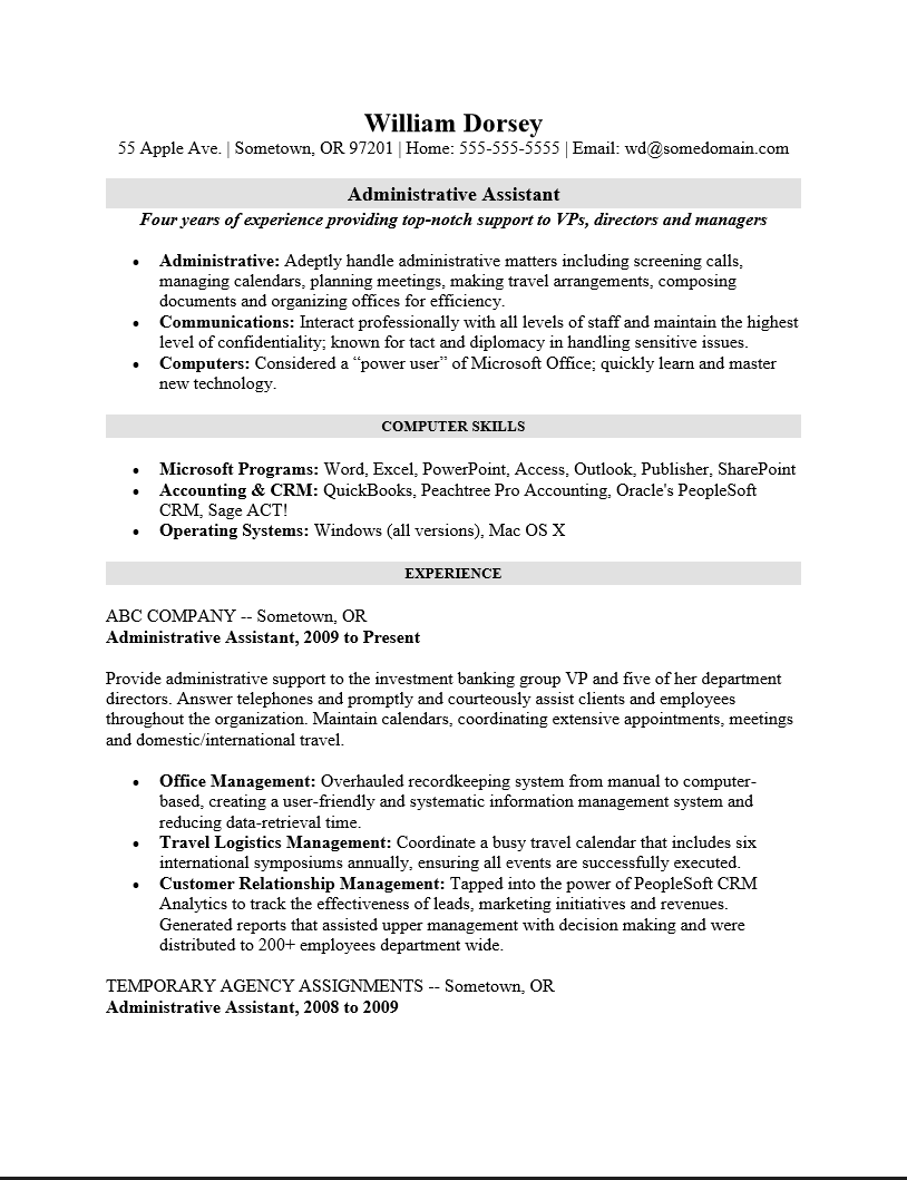 Free Professional High School Student Resume Template