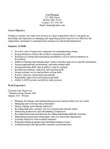 professional level customer service supervisor sample