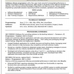Skilled Computer Programmer Resume Template