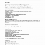 Banquet Server Resume Template