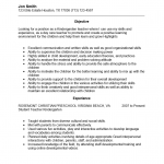 Kindergarden Teacher Resume Template