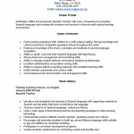 Spanish Teacher Resume Template