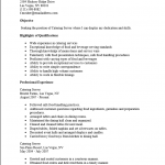 Catering Server Resume Template