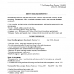 Front Desk Receptionist Resume Template