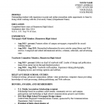 High School Student Resume for College Template