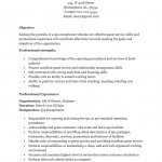 Spa Receptionist Resume Template